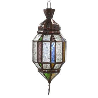 Taza Glass Panelled Moroccan Lantern
