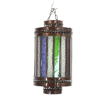 Berrechid Colour Cylinder Moroccan Lantern