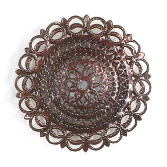 Round Metalwork Light Cover