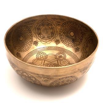Chakra Star Etched Singing Bowl No.10