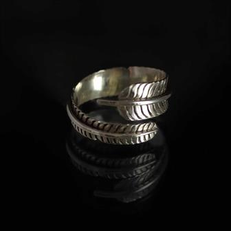 Nepalese Silver Feather Ring