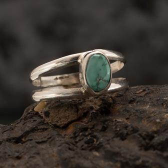 Turquoise Stone Nepalese Silver Ring