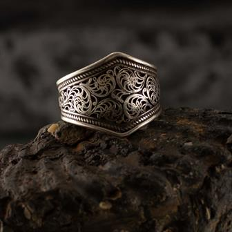 Filigree Nepalese Silver Ring
