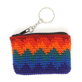 Mini Crochet Keyring Purse