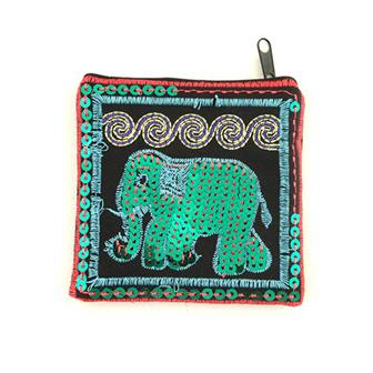 Sequin Elephant Pocket Purse