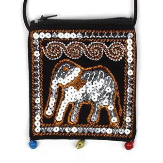 Sequin Elephant Purse