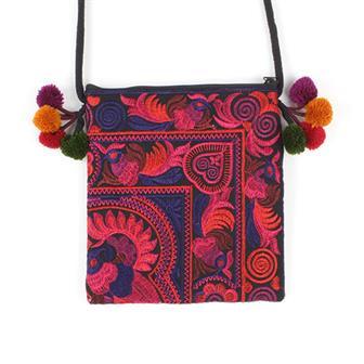 Fine Embroidered Passport Bag