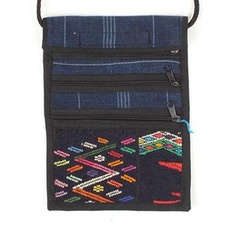 Huipil 3 zip Passport Bag