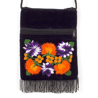 Guatemalan Velvet Passport Bag