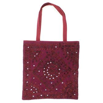 Embroidered Indian Shopping Bag