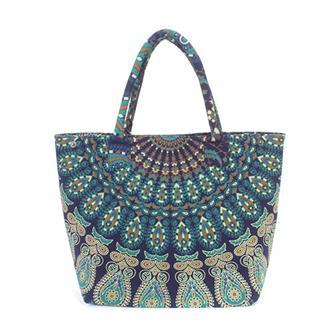 Indian Peacock Big Shopper Bag