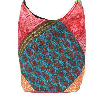 Patchwork Sari Shoulder Bag