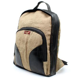 Beni Recycled Hessian & Tyre Backpack