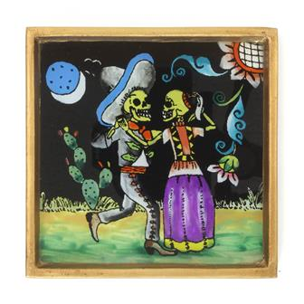 Dancing Couple Folk Art Frame