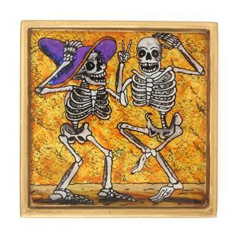 Dancing Friends Folk Art Frame