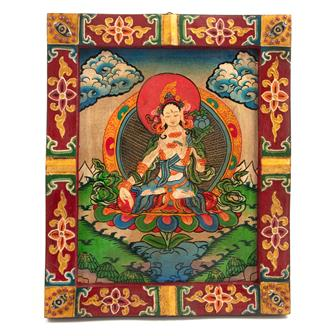 Small Tibetan Style Painted Board