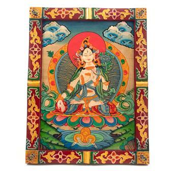 Medium Tibetan Style Painted Board