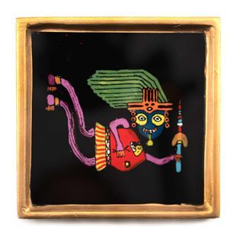 Flying Shaman Afterlife Folk Art Frame