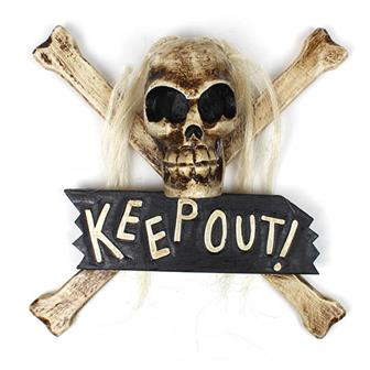 """Keep Out"" Plaque"