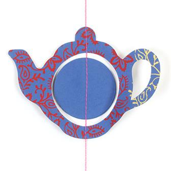 Paper Craft Teapot Hanging