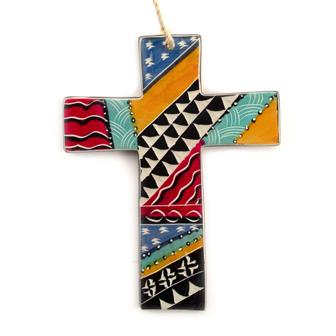 Multi Colour Soapstone Cross with Twine
