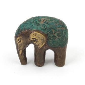 Mini Lucky Bronze Effect Elephant