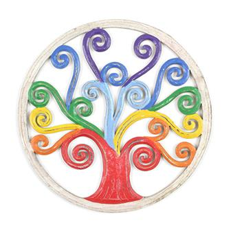 Rainbow Tree of Life Plaque