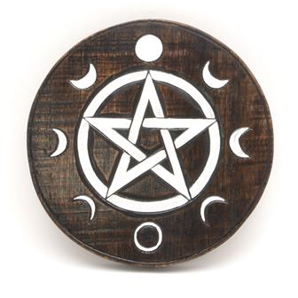 Pentacle Moon Phases Plaque