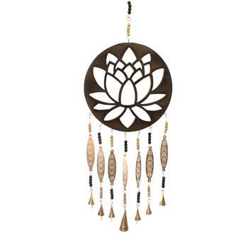 Lotus Plaque with Bells