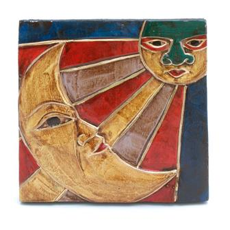 Sun and Moon Faces Plaque