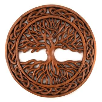 Intricate Tree Knot Plaque