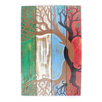Entwined Tree Panelled Plaque