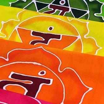 Large Rainbow Chakra Batik