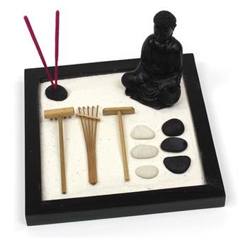 Large Zen Garden with Buddha