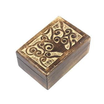 Carved Tree Mango Wood Box