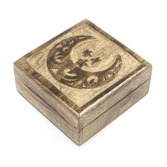 Crescent Moon Mango Wood Box