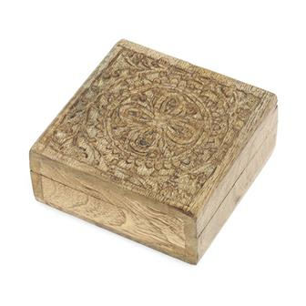 Blooming Flower Mango Wood Box