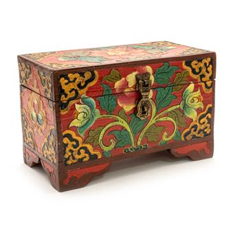 Tibetan Style Chest with Feet
