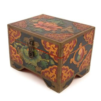 Tibetan Style Box With Feet