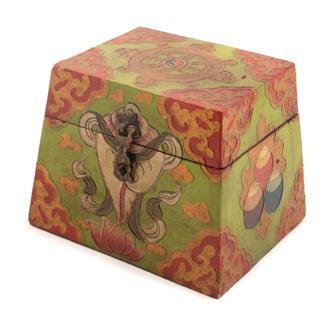Square Pyramid Tibetan Style Box