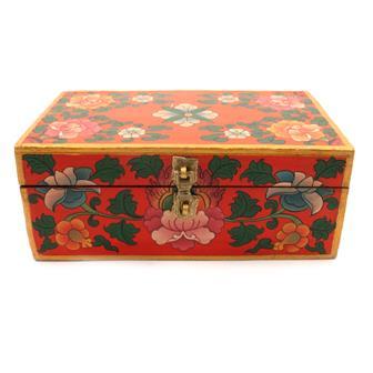 Painted Flower Tibetan Style Box
