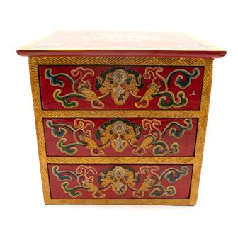 Three Drawer Tibetan Style Box