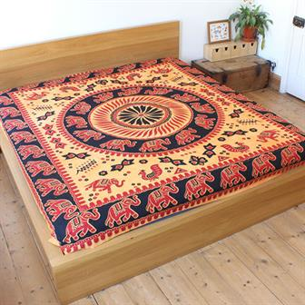 Traditional Elephant Bedspread