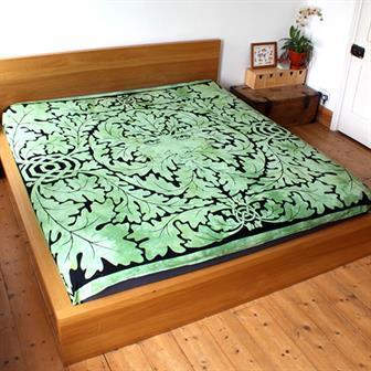 Green Man Bedspread