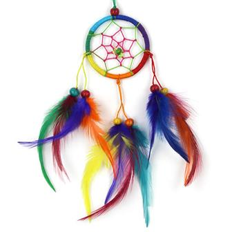 Small Bright Rainbow Dreamcatcher
