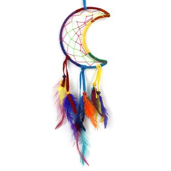 Rainbow Crescent Moon Dreamcatcher