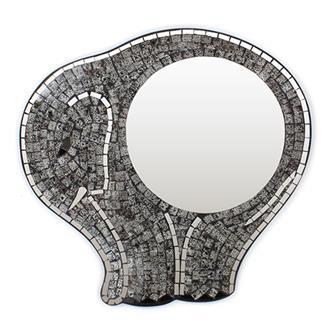 Elephant Mosaic Mirror