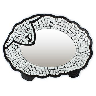 Sheep Mosaic Mirror