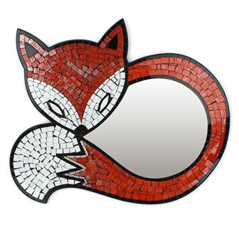 Fox Mosaic Mirror