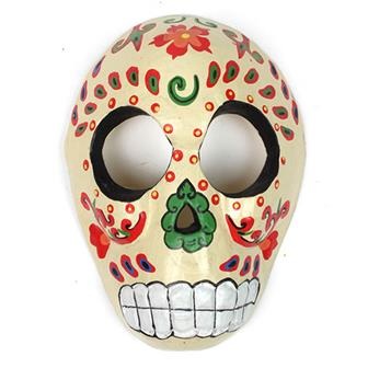 Candy Skull Mask - Cream